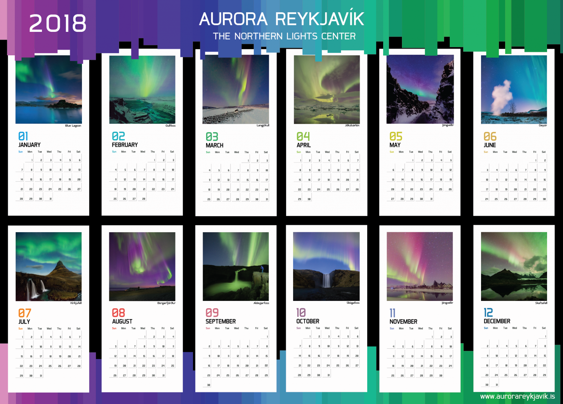 Marvelous Let The Northern Lights Be Your Lucky Charm In 2018 And Download Our  Exclusive Calendar For Your Desktop Or As Printable!