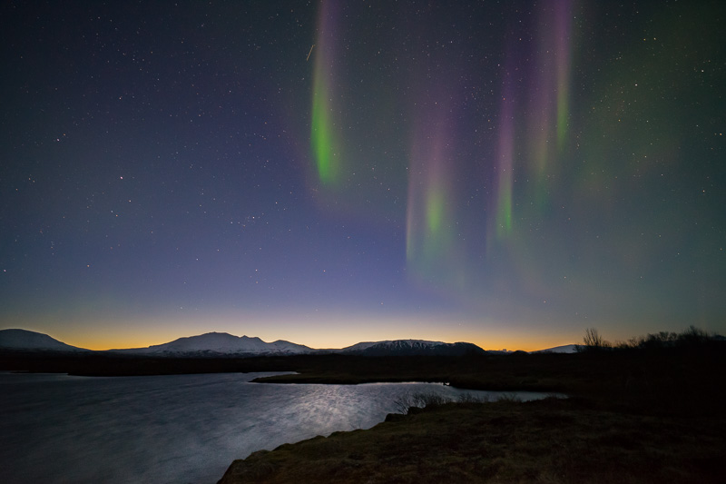 Aurora at Þingvellir