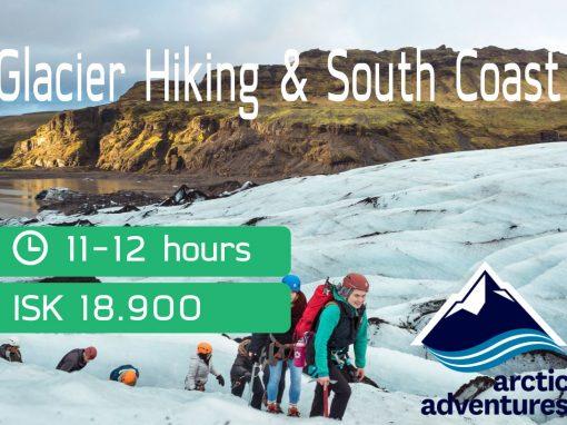 Glacier hiking, Volcanoes and Waterfalls via Arctic Adventures