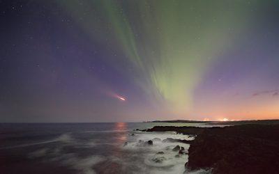 Aurora at Reykjanes 22.08.2017
