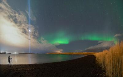 LAST NIGHT IN REYKJAVÍK: GIANT SHOOTING STAR STARS THE NORTHERN LIGHTS